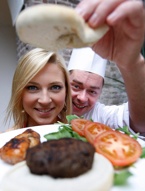 Sarah McGovern and Chef Neven Maguire, pictured here at the launch of safefood's summer BBQ campaign, which encourages consumers  to follow good food safety practices when preparing and cooking food this summer BBQ season. pic. Robbie Reynolds.