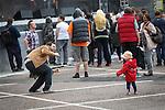 © Joel Goodman - 07973 332324 . 31 August 2013 . Rochdale , UK . Dancing to the DJ set in front of the stage . The Rochdale Feel Good Festival . Photo credit : Joel Goodman