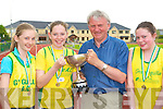 Martin Fitzgerald Kerry AAI presents the Mary Lucey perpetual cup to the winners of the girls u14 relay team l-r: Catherine Coffey, Niamh Coffey and Gillian Murphy Gneeveguilla competing at the Kerry AAI Championships in Castleisland on Sunday   Copyright Kerry's Eye 2008