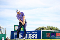 Russell Knox (SCO) on the 1st during the 1st round of the 2017 Portugal Masters, Dom Pedro Victoria Golf Course, Vilamoura, Portugal. 21/09/2017<br /> Picture: Fran Caffrey / Golffile<br /> <br /> All photo usage must carry mandatory copyright credit (&copy; Golffile | Fran Caffrey)
