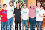 Dart Tournament in aid of Recovery Haven Tralee was held last Sunday night in the Ploughman Bar Abbeyfeale Dart Throwers , Evan Lacey, (Strand) Mike Flynn ( Askeaton), Dermot Kelliher ( Killarney), Mossie Daughton ( Abbeyfeale), Jer Lacey (Strand) ,Paul O' Mahony (Abbeyfeale)