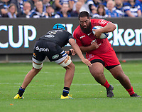 Toulouse Rugby's Charlie Faumuina in action during todays match<br /> <br /> <br /> Photographer Bob Bradford/CameraSport<br /> <br /> European Rugby Champions Cup - Bath Rugby v Toulouse - Saturday 13th October 2018 - The Recreation Ground - Bath<br /> <br /> World Copyright © 2018 CameraSport. All rights reserved. 43 Linden Ave. Countesthorpe. Leicester. England. LE8 5PG - Tel: +44 (0) 116 277 4147 - admin@camerasport.com - www.camerasport.com