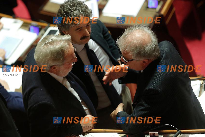 Enrico Buemi e Luigi Zanda<br /> Roma 16-03-2016 Senato. <br /> Photo Samantha Zucchi Insidefoto