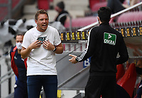 24th May 2020, Opel Arena, Mainz, Rhineland-Palatinate, Germany; Bundesliga football; Mainz 05 versus RB Leipzig;Trainer Julian Nagelsmann (RB Leipzig) argues a call with assistant refereee Florian Badstuebner