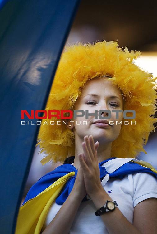 FIFA WM 2006 -  Viertelfinale <br /> Play    #58 (26-Jun) - Italien - Ukraine<br /> <br /> Ukrainian fans.<br /> <br /> Foto &copy; nordphoto