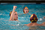 BERKELEY, CA - DECEMBER 04:  James Walters (11) of the University of Southern California celebrates after scoring during the Division I Men's Water Polo Championship held at the Spieker Aquatics Complex on December 04, 2016 in Berkeley, California.  Cal defeated USC 11-8 for the national title. (Photo by Justin Tafoya/NCAA Photos via Getty Images)
