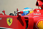 Ferrari's driver Fernando Alonso drives drives during a classification session at the Circuit de Catalunya on May 10, 2014. <br /> PHOTOCALL3000/PD