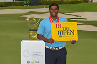 Co-runner up Rayhan THOMAS (IND) following Rd 4 of the Asia-Pacific Amateur Championship, Sentosa Golf Club, Singapore. 10/7/2018.<br /> Picture: Golffile | Ken Murray<br /> <br /> <br /> All photo usage must carry mandatory copyright credit (&copy; Golffile | Ken Murray)