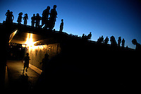 People wait for a fireworks display to begin in Great Falls, Montana.