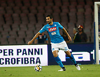Raul Albiol  during the  italian serie a soccer match,between SSC Napoli and Atalanta      at  the San  Paolo   stadium in Naples  Italy , August 27, 2017