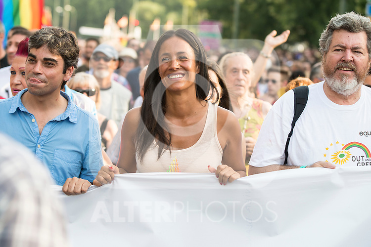 Ciudadanos Politician Begoña Villacis attends to the protest during Gay Pride celebrations in Madrid, Spain. July 04, 2015.<br />  (ALTERPHOTOS/BorjaB.Hojas)