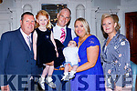 Little Isaac O'Dooley Killarney, celebrated his christening with his parents Michael and Rachel, big sister Deyna and godparents Jimmy Rogan and Priscilla Mooney in the Killarney Avenue Hotel on Saturday night