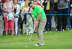 Ireland&rsquo;s Keith Duffy putts onto the green <br /> <br /> Golf - Day 1 - Celebrity Cup - Saturday 4th July 2015 - Celtic Manor Resort  - Newport<br /> <br /> &copy; www.sportingwales.com- PLEASE CREDIT IAN COOK