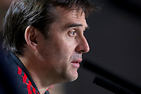 Spain coach Julen Lopetegui during press conference the day before Spain and Argentina match at Wanda Metropolitano in Madrid , Spain. March 26, 2018.  *** Local Caption *** © pixathlon<br /> Contact: +49-40-22 63 02 60 , info@pixathlon.de