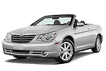 Low aggressive front three quarter view of a 2008 Chrysler Sebring Convertible.