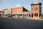 Downtown historic business district in Wabasha Minnesota USA