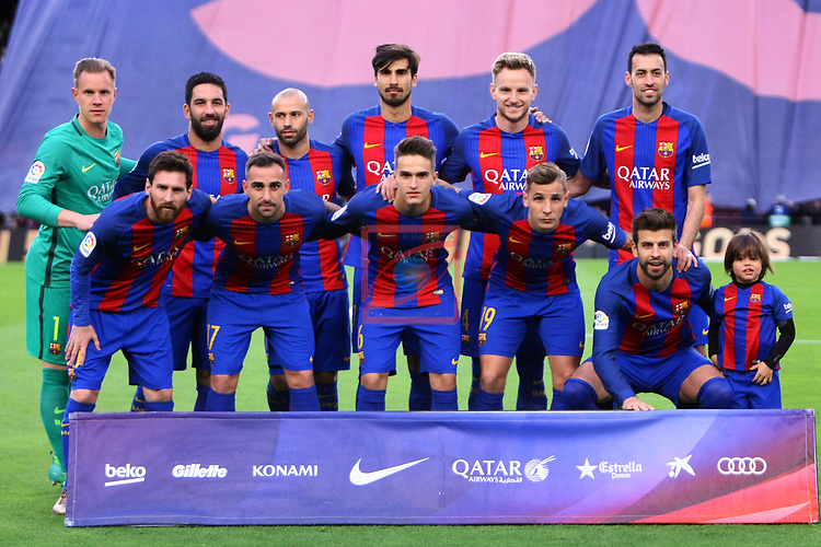 League Santander 2016/2017. Game: 34.<br /> FC Barcelona vs CA Osasuna: 7-1.