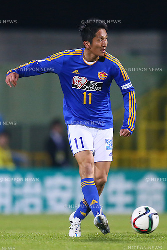 Hidetaka Kanazono (Vegalta),<br /> MARCH 13, 2015 - Football / Soccer : <br /> 2015 J1 League 1st stage match between<br /> Kashiwa Reysol 1-1 Vegalta Sendai<br /> at Hitachi Kashiwa Stadium in Chiba, Japan.<br /> (Photo by Shingo Ito/AFLO SPORT)