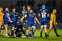 8th November 2019; AJ Bell Stadium, Salford, Lancashire, England; English Premiership Rugby, Sale Sharks versus Coventry Wasps; Embrose Papier of Sale Sharks celebrates the win - Editorial Use