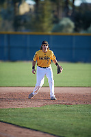 Alex Merchant (7) of Liberty High School in Brentwood, California during the Baseball Factory All-America Pre-Season Tournament, powered by Under Armour, on January 13, 2018 at Sloan Park Complex in Mesa, Arizona.  (Mike Janes/Four Seam Images)