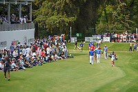 Hideki Matsuyama (JPN) leads the pack down 17 during round 4 of the World Golf Championships, Mexico, Club De Golf Chapultepec, Mexico City, Mexico. 2/24/2019.<br /> Picture: Golffile | Ken Murray<br /> <br /> <br /> All photo usage must carry mandatory copyright credit (© Golffile | Ken Murray)