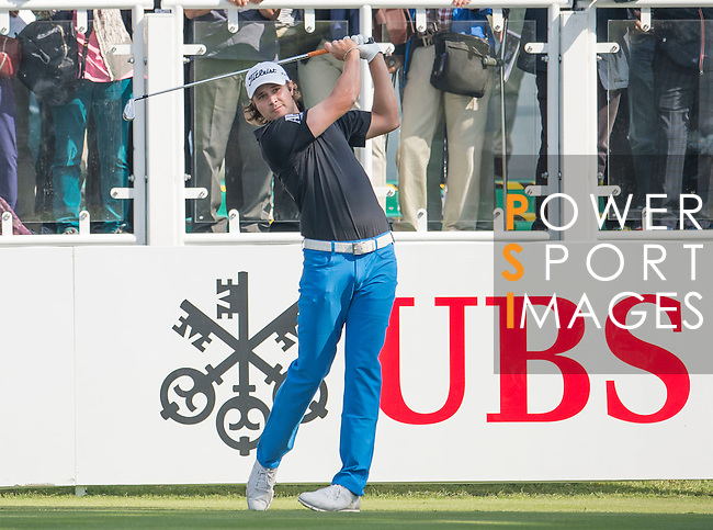 Peter Uihlein of USA tees off the first hole during the 58th UBS Hong Kong Golf Open as part of the European Tour on 08 December 2016, at the Hong Kong Golf Club, Fanling, Hong Kong, China. Photo by Marcio Rodrigo Machado / Power Sport Images