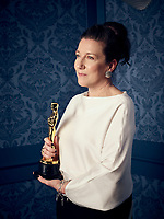 Oscar® winner Jacqueline Durran during the 92nd Oscars® on Sunday, February 9, 2020 at the Dolby Theatre® in Hollywood, CA, televised live by the ABC Television Network.<br /> *Editorial Use Only*<br /> CAP/AMPAS<br /> Supplied by Capital Pictures