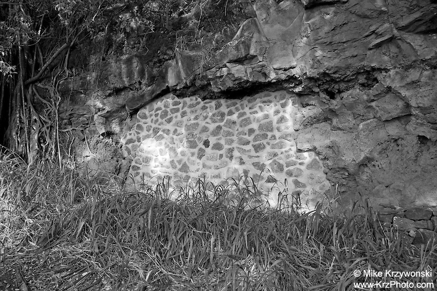Sealed burial cave above Waimea Bay, North Shore, Oahu, Hawaii