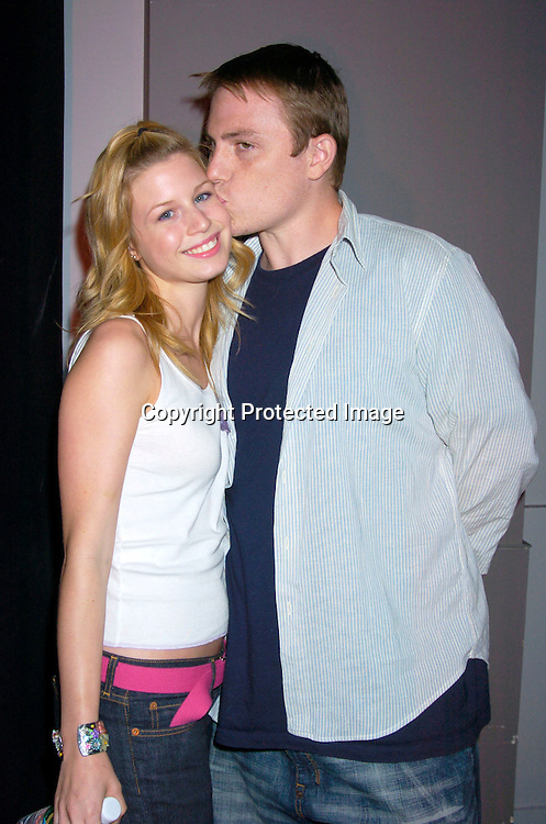 "Stephanie Gatschet and boyfriend Jason McKenna ..at a performance of "" Michael Minery's Tapaholics"", a part of the International Dance Fesival NYC on August 7, 2004 ..at the Duke Theatre. ..Photo by Robin Platzer, Twin Images"