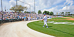 12 March 2008: Los Angeles Dodgers' interim manager Tommy Lasorda walks to the team dugout at a Spring Training game between the Washington Nationals and the LA Dodgers at Holman Stadium, in Vero Beach, Florida. Lasorda is replacing manager Joe Torre who is traveling to China with a group of Dodger players for an exhibition series of games. The Nationals defeated the Dodgers 10-4 at the historic Dodgertown ballpark. 2008 marks the final season of Spring Training at Dodgertown for the Dodgers, as the team will move to new training facilities in Arizona starting in 2009 after 60 years in Florida...Mandatory Photo Credit: Ed Wolfstein Photo