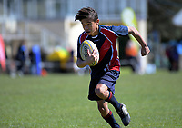 Action from the AIMS Games boys' rugby at Blake Park in Mount Maunganui, New Zealand on Wednesday, 12 September 2018. Photo: Dave Lintott / lintottphoto.co.nz