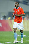 07 August 2008: Jonathan De Guzman (NED).  The men's Olympic soccer team of the Netherlands played the men's Olympic soccer team of Nigeria at Tianjin Olympic Center Stadium in Tianjin, China in a Group B round-robin match in the Men's Olympic Football competition.