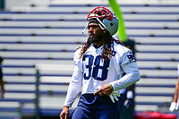 June 13, 2017: New England Patriots running back Brandon Bolden (38) takes part in the New England Patriots organized team activity held on the practice field at Gillette Stadium, in Foxborough, Massachusetts. Eric Canha/CSM