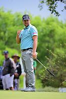 Ryan Moore (USA) barely misses a putt on 10 during round 3 of the World Golf Championships, Dell Technologies Match Play, Austin Country Club, Austin, Texas, USA. 3/24/2017.<br /> Picture: Golffile | Ken Murray<br /> <br /> <br /> All photo usage must carry mandatory copyright credit (&copy; Golffile | Ken Murray)