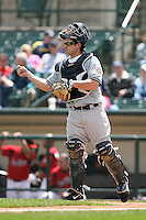 June 1st 2008:  Catcher JD Closser (30) of the Scranton Wilkes-Barre Yankees, Class-AAA affiliate of the New York Yankees, during a game at Frontier Field in Rochester, NY.  Photo By Mike Janes/Four Seam Images