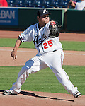Reno Aces Matt Gorgen throws against the Sacramento River Cats during their play off game played on Sunday afternoon, September 9, 2012 in Reno, Nevada.