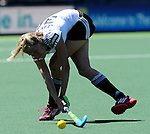 The Hague, Netherlands, June 13: Lena Jacobi #30 of Germany passes the ball during the field hockey placement match (Women - Place 7th/8th) between Korea and Germany on June 13, 2014 during the World Cup 2014 at Kyocera Stadium in The Hague, Netherlands. Final score 4-2 (2-0)  (Photo by Dirk Markgraf / www.265-images.com) *** Local caption ***