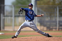 Texas Rangers pitcher Joe Palumbo (22) during an Instructional League game against the Cincinnati Reds on October 7, 2013 at Goodyear Training Complex in Goodyear, Arizona.  (Mike Janes/Four Seam Images)