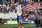 Mascots  in action during the Armed Forces Bowl game between the Southern Mississippi Golden Eagles vs. Tulane Green Waves at the Amon G. Carter Stadium in Fort Worth, Texas.