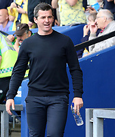 Fleetwood Town Manager Joey Barton is all smiles before kick off<br /> <br /> Photographer David Shipman/CameraSport<br /> <br /> The EFL Sky Bet League One - Oxford United v Fleetwood Town - Saturday August 11th 2018 - Kassam Stadium - Oxford<br /> <br /> World Copyright &copy; 2018 CameraSport. All rights reserved. 43 Linden Ave. Countesthorpe. Leicester. England. LE8 5PG - Tel: +44 (0) 116 277 4147 - admin@camerasport.com - www.camerasport.com