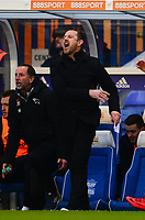 Manager of Derby Gary Powett shows his frustration during the Sky Bet Championship match between Birmingham City and Derby County at St Andrews, Birmingham, England on 13 January 2018. Photo by Bradley Collyer / PRiME Media Images.