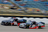 #51: Chandler Smith, Kyle Busch Motorsports, Toyota Tundra Toyota Safelite AutoGlass and #56: Tyler Hill, Hill Motorsports, Chevrolet Silverado Southern Freight Services