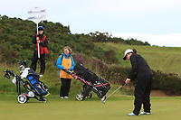 Emily Toy (ENG) on the 17th green during the Matchplay Semi-Final of the Women's Amateur Championship at Royal County Down Golf Club in Newcastle Co. Down on Saturday 15th June 2019.<br /> Picture:  Thos Caffrey / www.golffile.ie