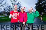 l-r  Ber Walsh, Siobhan Barrett and Sarah Barrett. at the Christmas Park Run on Saturday