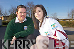 PROJECT: Killorglin Community College students Merrissa Foley (left) with Majella Browne who is modelling Merissa's undershorts for female GAA players which has been shortlisted for the Young Entrepreneur Programme.