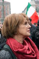 Lella Costa al 'C-Day', iniziativa in difesa della Costituzione. Milano, 12 marzo 2011...Lella Costa at the 'C-Day, political initiative to defence Italian Constitution. Milan, March 12, 2011