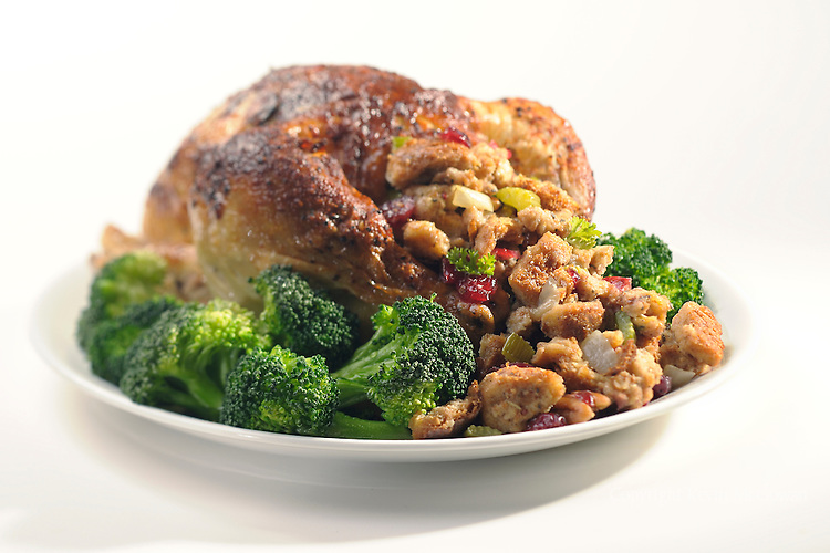 Roasted Chicken with Cranberry Stuffing