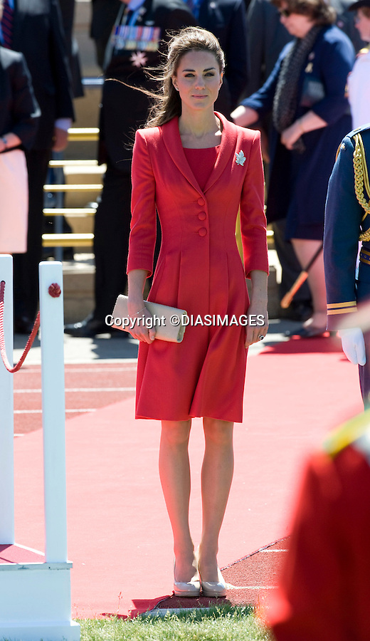 """PRINCE WILLIAM & KATE CANADA.Farewell Ceremony, Rotary Challenger Park, Calgary_08/07/2011.Mandatory Credit Photo: ©Francis Dias-DIASIMAGES. .**ALL FEES PAYABLE TO: """"NEWSPIX INTERNATIONAL""""**..IMMEDIATE CONFIRMATION OF USAGE REQUIRED:.DiasImages, 31a Chinnery Hill, Bishop's Stortford, ENGLAND CM23 3PS.Tel:+441279 324672  ; Fax: +441279656877.Mobile:  07775681153.e-mail: info@newspixinternational.co.uk"""