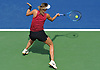 Maria Sharapova returns a volley during a practice session on Court 3 of the USTA Billie Jean King National Tennis Center in Corona, NY on Wednesday, Aug. 22, 2018.