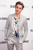 George Shelley<br /> arrives for the Glamour Women of the Year Awards 2016, Berkley Square, London.<br /> <br /> <br /> &copy;Ash Knotek  D3130  07/06/2016